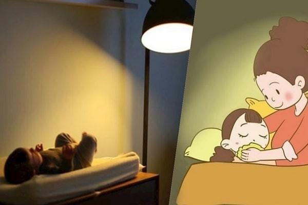 Trẻ khó ngủ do ánh sáng chói