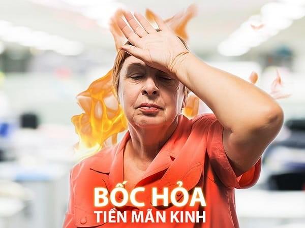 Hiện tượng bốc hỏa ở phụ nữ tiền mãn kinh.