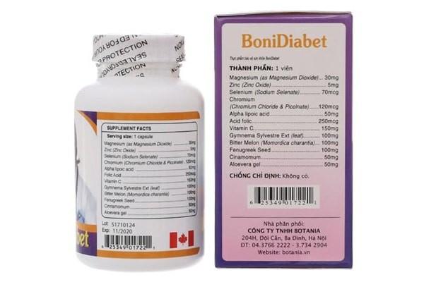 BoniDiabet là sản phẩm của Canada