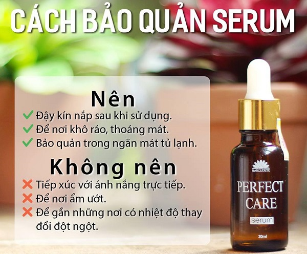 cách bảo quản serum