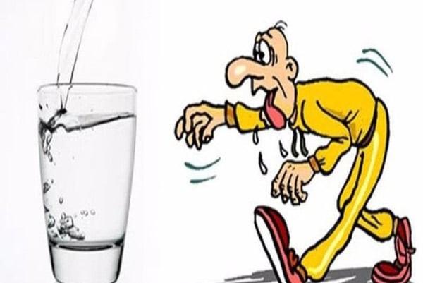 Mất nước có liên quan đến tăng lưu lượng nước bọt
