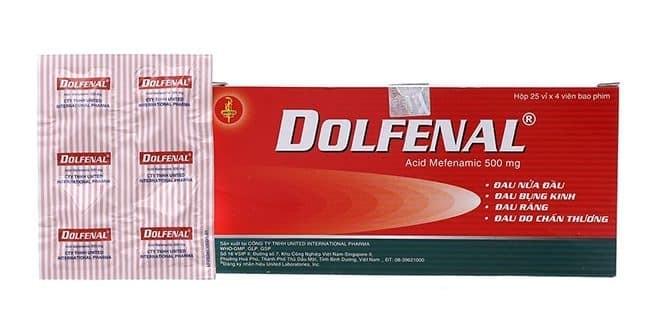 Hộp thuốc và vỉ thuốc Dolfenal 500mg