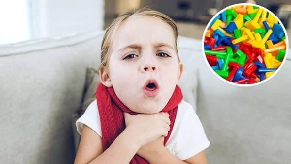 trẻ bị mắc dị vật dẫn đến viêm họng