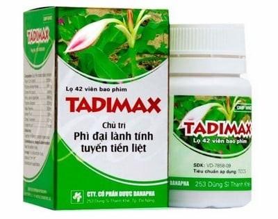 Tadimax - Thuốc biệt dược, công dụng , cách dùng - VD-22742-15