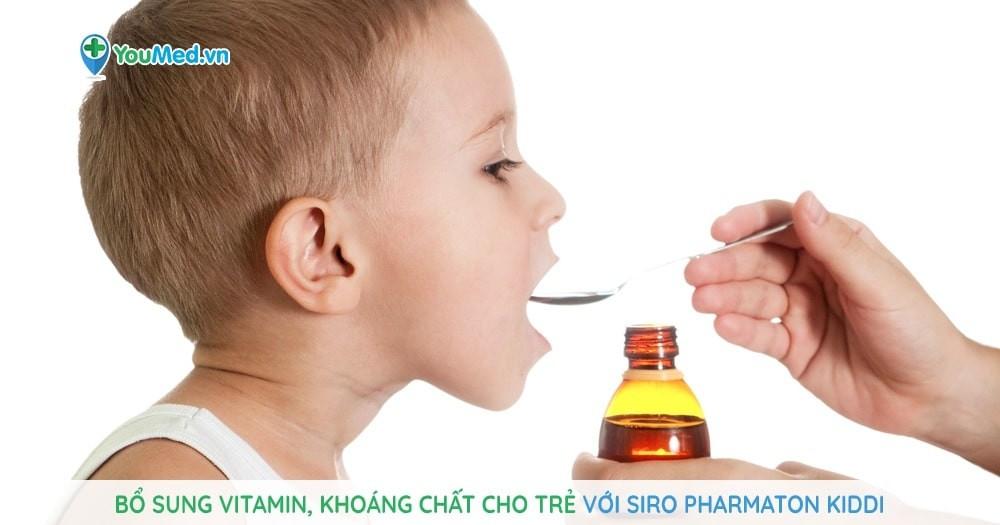 Bổ sung vitamin, khoáng chất cho trẻ với siro Pharmaton Kiddi