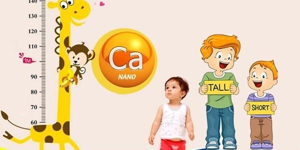 Canxi giúp trẻ tăng chiều cao trong những năm đầu đời.