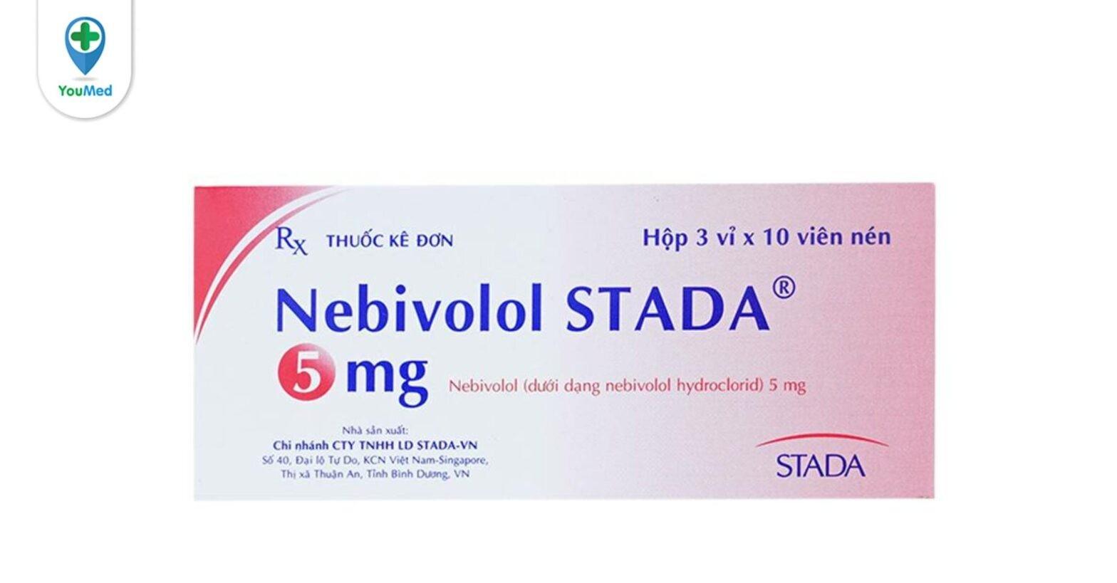 Nebivolol 5mg là thuốc gì? giá, công dụng và những điều cần lưu ý