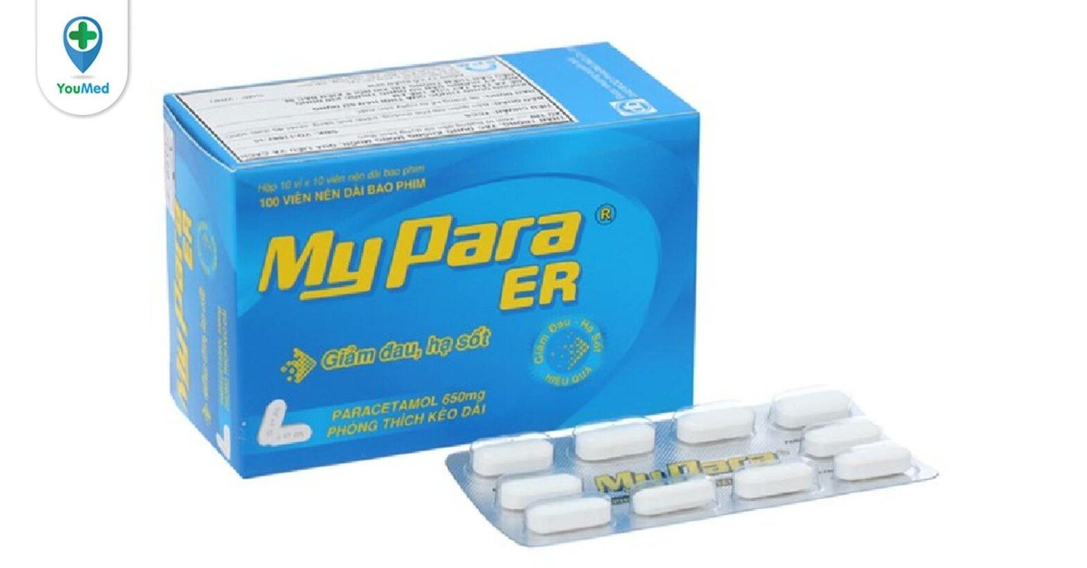 Thuốc Mypara ER là thuốc gì? giá, công dụng, cách dùng và những lưu ý