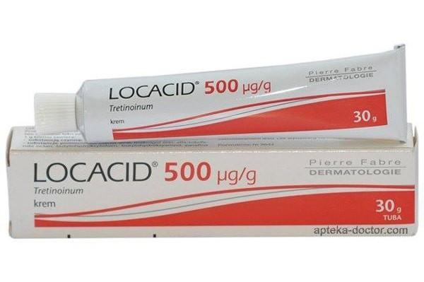 Thuốc Locacid được thiết kế dưới dạng tuýp