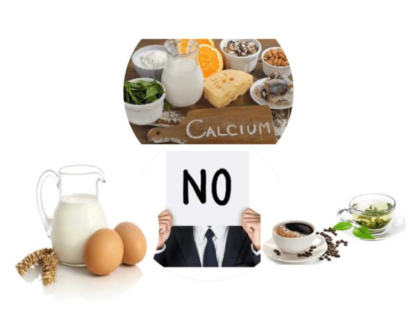 Các loại thực phẩm cần tránh ở người bị thiếu máu.
