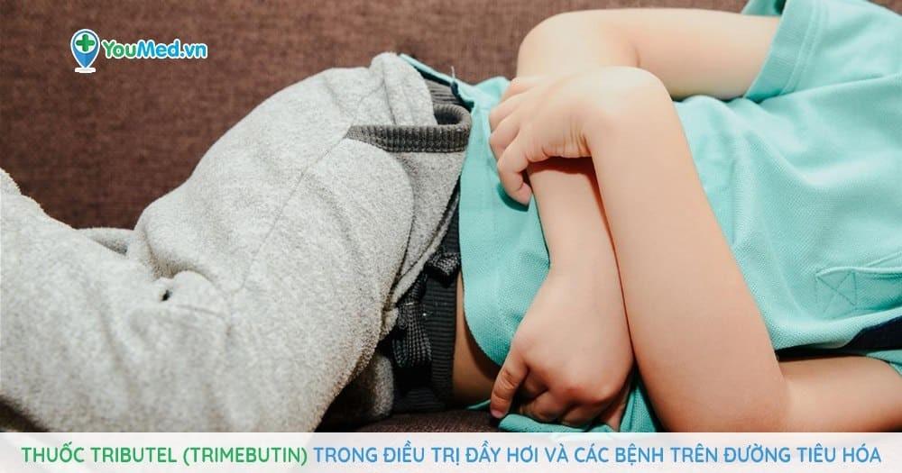 Thuốc Tributel (trimebutin) trong điều trị đầy hơi và các bệnh trên đường tiêu hóa