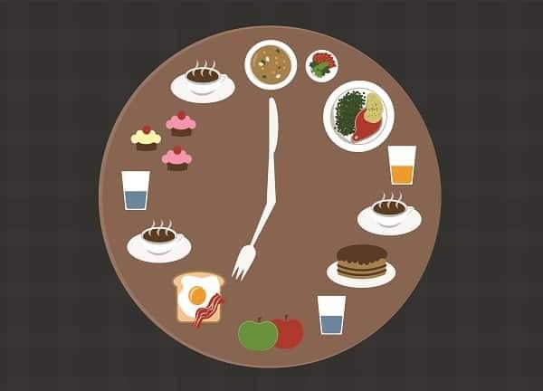 Thời gian các bữa ăn