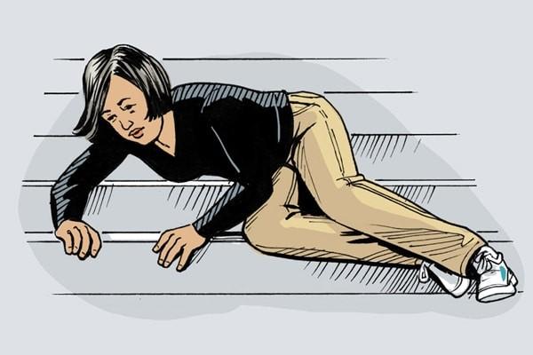 Té ngã có thể dẫn đến chấn thương xương chày