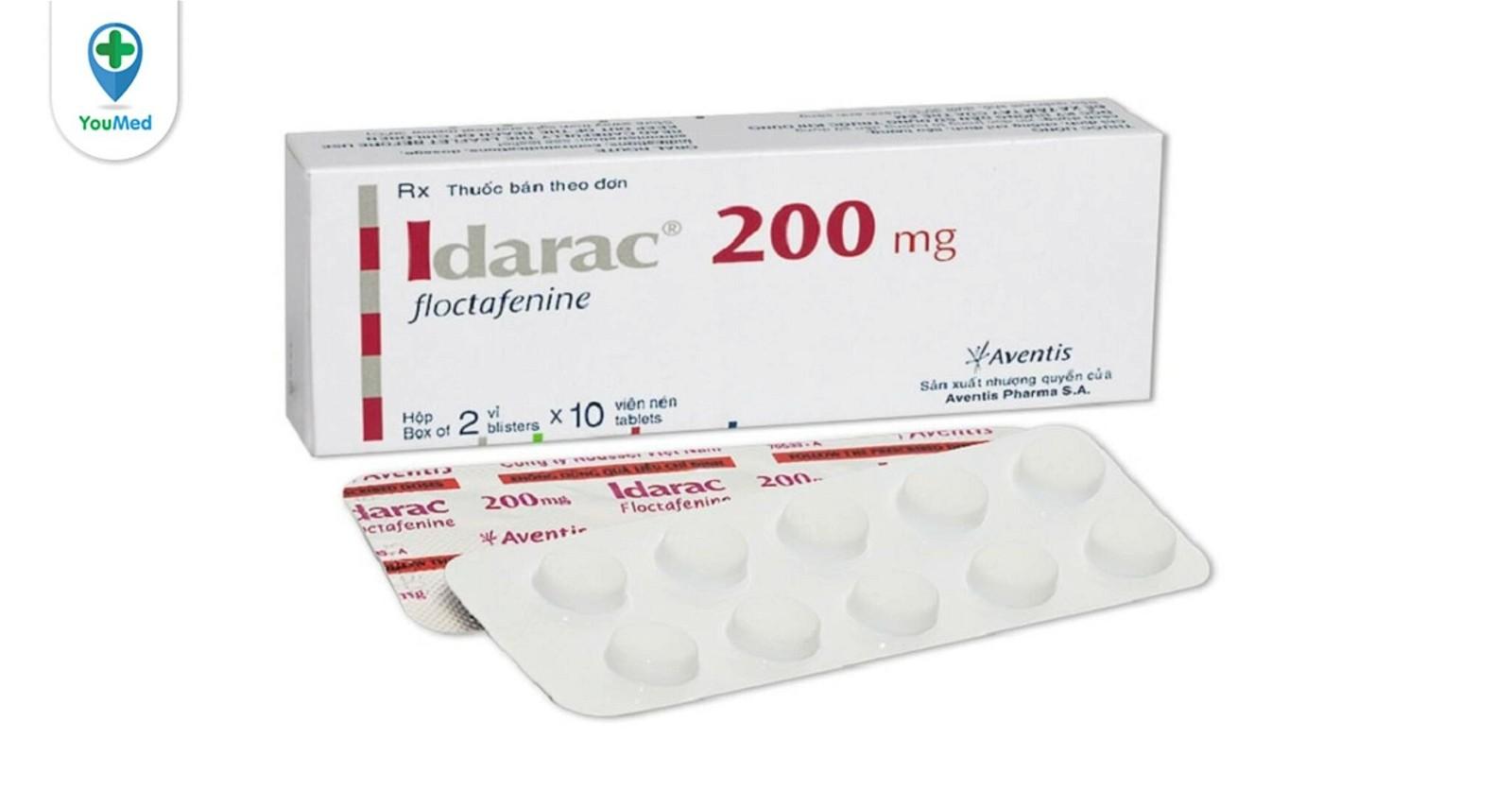 Idarac 200mg là thuốc gì? giá, công dụng và cách dùng hiệu quả