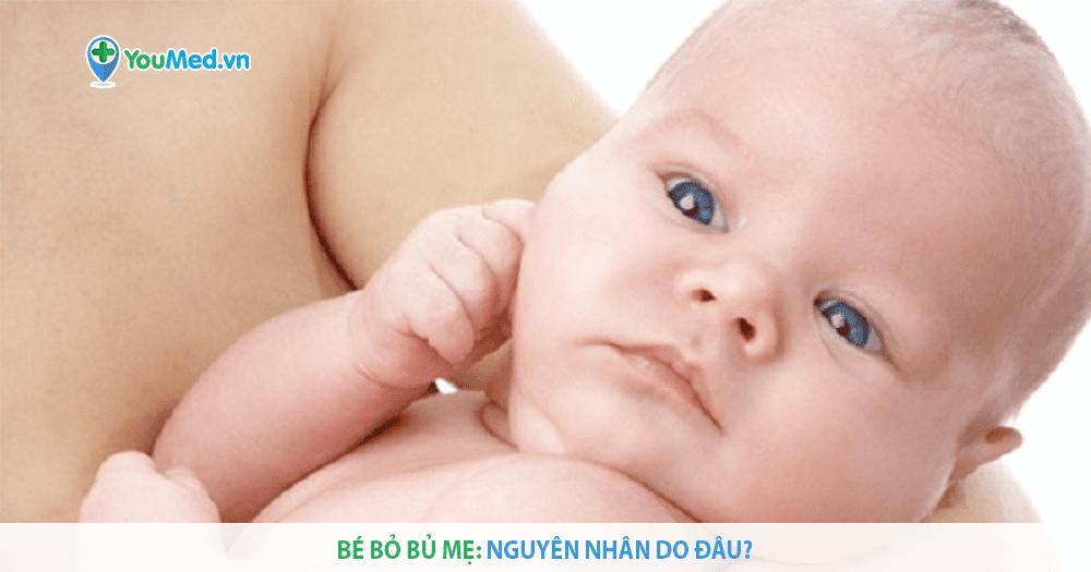 Bé bỏ bú mẹ phải xử trí như thế nào?