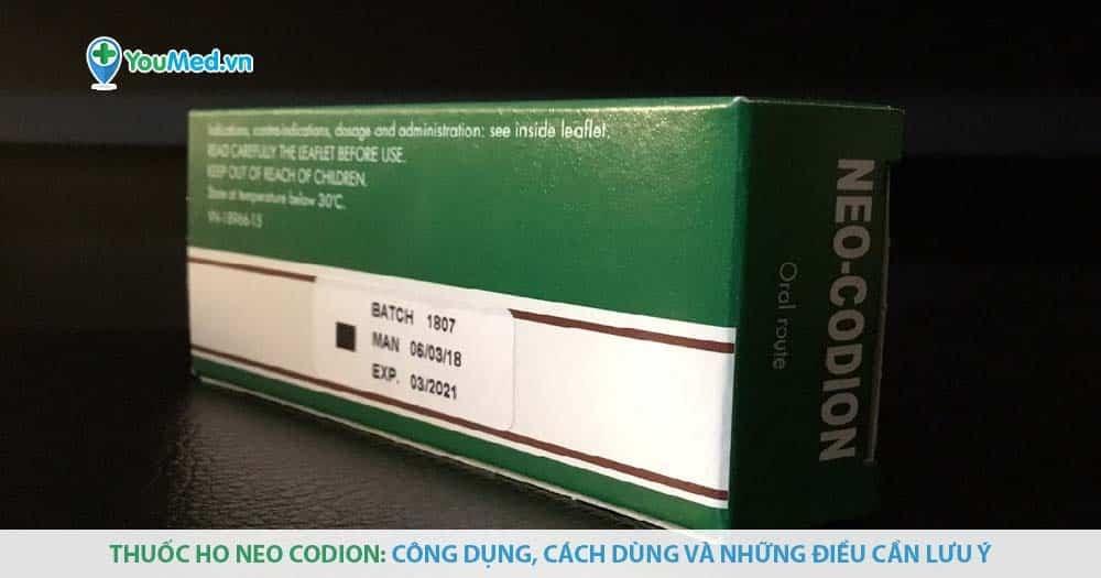 Thuốc ho Neo Codion: công dụng, cách dùng và những điều cần lưu ý