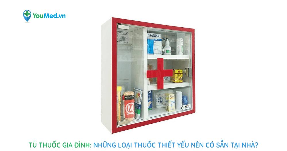 Tủ thuốc gia đình :Những loại thuốc thiết yếu nên có sẵn tại nhà?