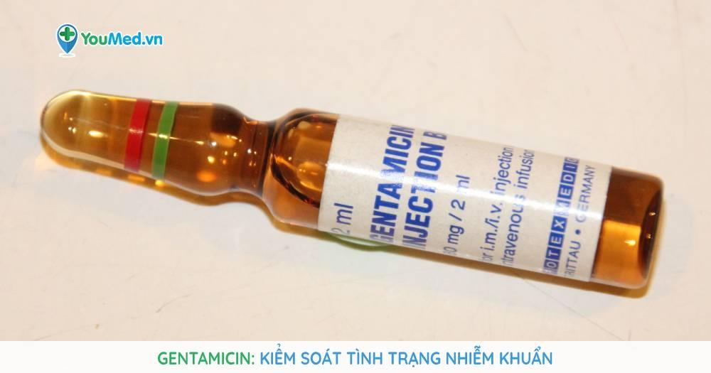 Kháng sinh Gentamicin trong kiểm soát tình trạng nhiễm khuẩn