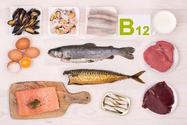 Vitamin B12 có trong thịt, sữa, trứng, cá