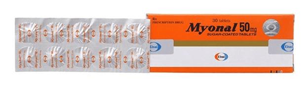 Thuốc Myonal được bào chế dưới dạng viên nén