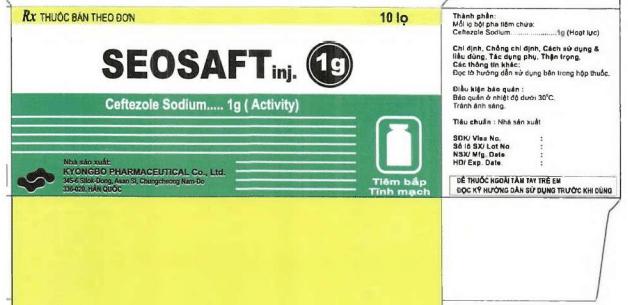 Seosaft là một loại thuốc bột pha tiêm