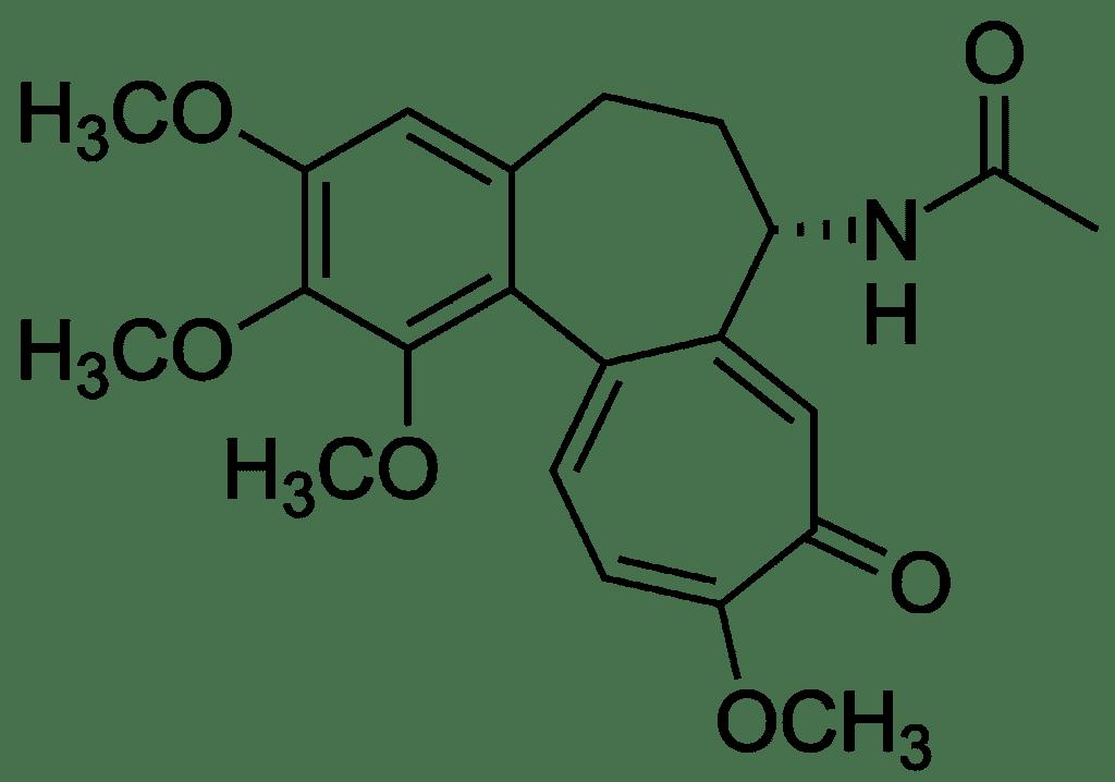 Công thức hóa học Colchicin