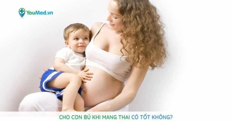 Cho con bú khi mang thai có tốt không?