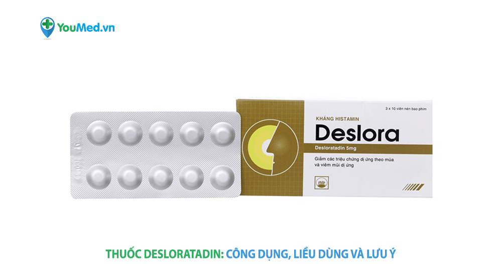 Kiểm soát tình trạng dị ứng với Desloratadin