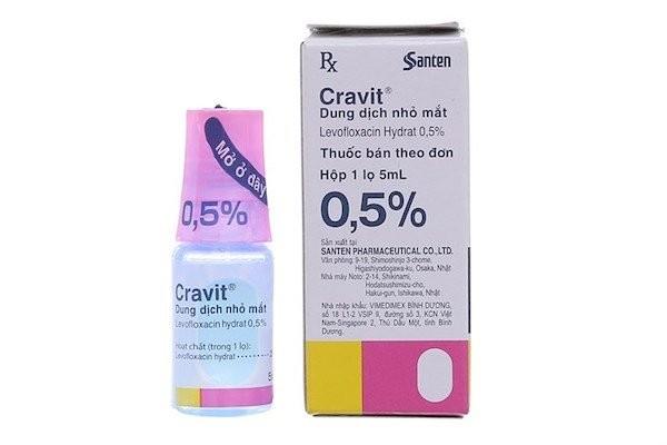 Thuốc nhỏ mắt Cravit 0.5% chai 5 ml