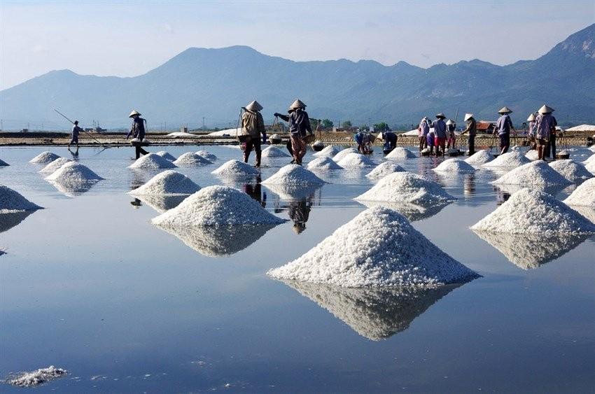 Ruộng muối là hình ảnh quen thuộc ở Việt Nam
