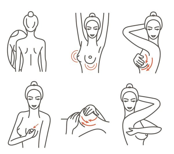 Cách tự khám vú hàng tháng cho phụ nữ