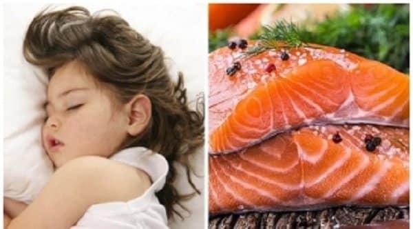 Cá là thực phẩm rất tốt hỗ trợ giấc ngủ ngon cho trẻ