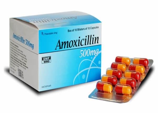 Thuốc kháng sinh Amoxicillin 500 mg