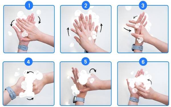 6 bước rửa tay đúng cách