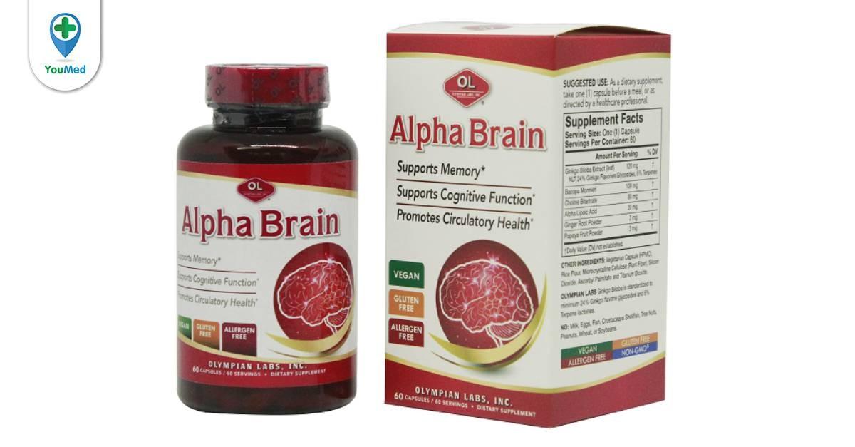 Thuốc bổ não Alpha Brain: công dụng, giá và cách sử dụng