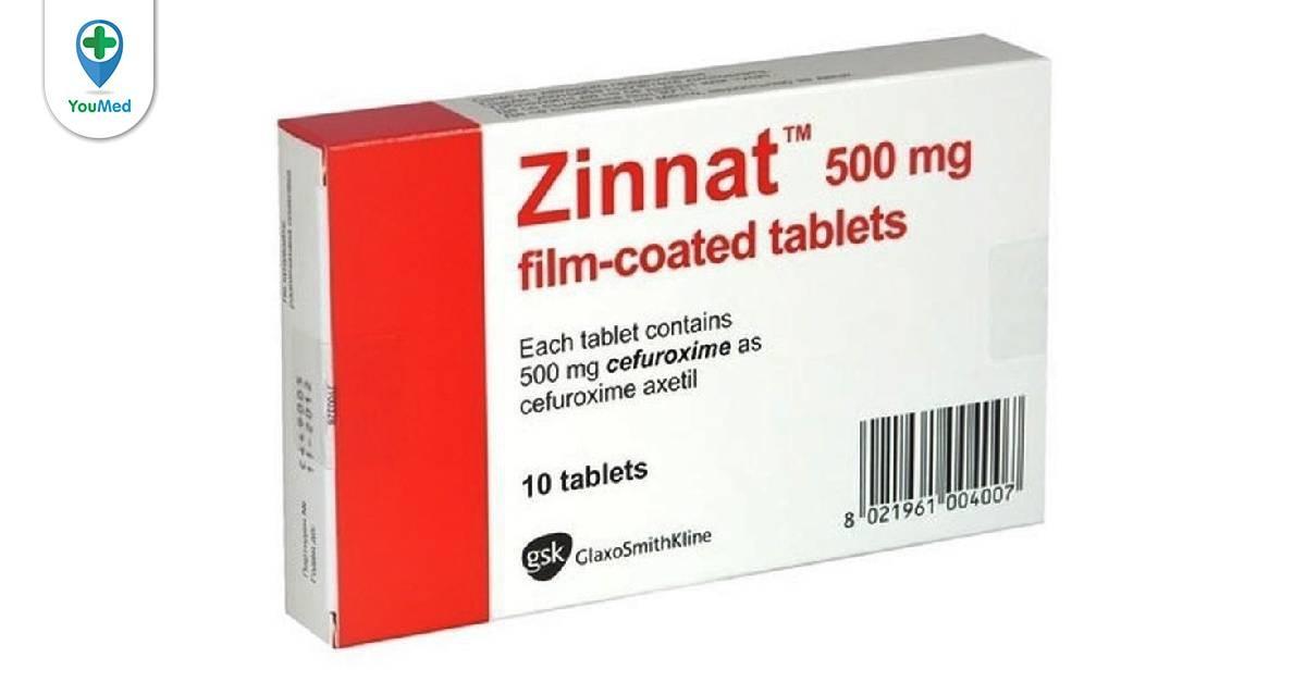Thuốc kháng sinh Zinnat: Công dụng, chỉ định và lưu ý khi dùng