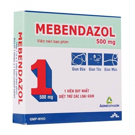 Thuốc tẩy giun Mebendazol