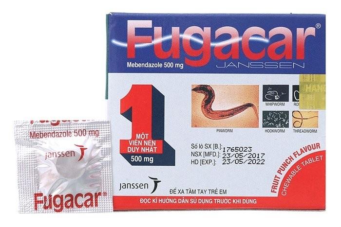 Fugacar - thuốc tẩy giun