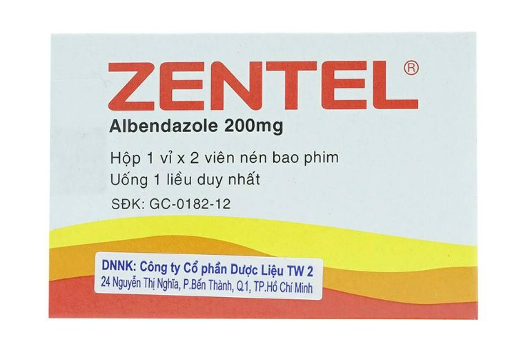 Zentel - thuốc tẩy giun