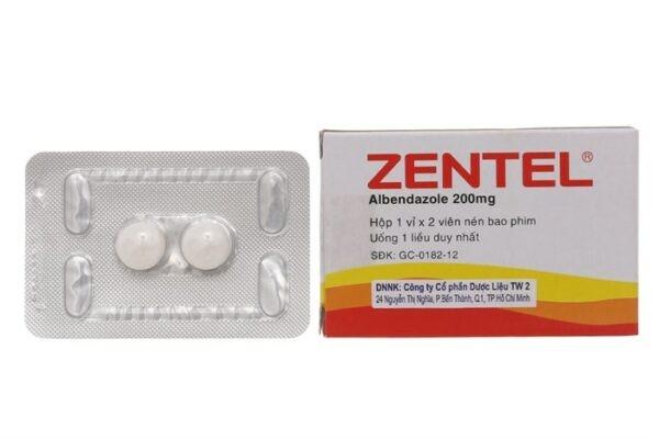 thuốc tẩy giun Zentel (albendazol) cho trẻ dưới 2 tuổi