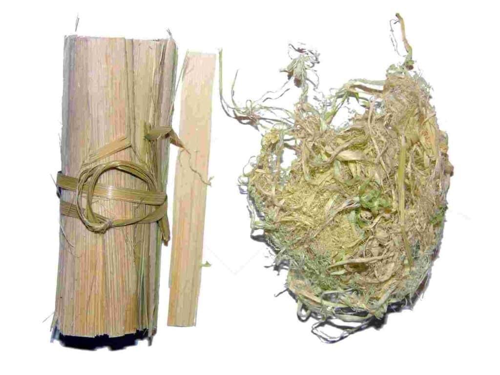 Tinh cây tre: được chế biến bằng cách cạo lớp thân của cây tre