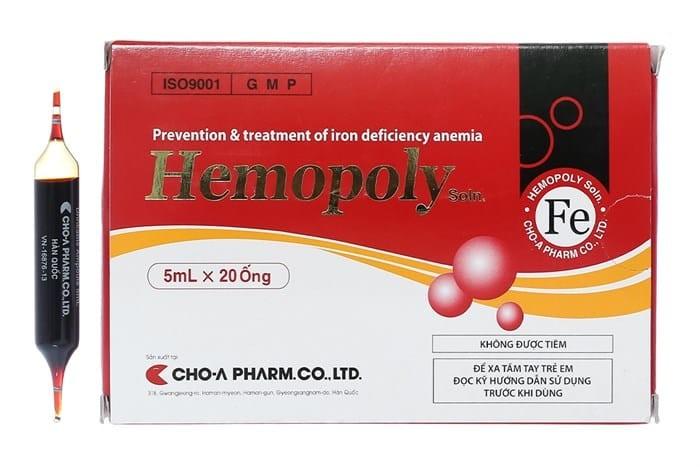 Thông tin về dung dịch thuốc sắt Hemopoly