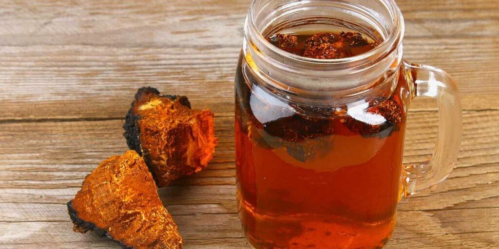 Nấm Chaga dùng để hãm trà uống