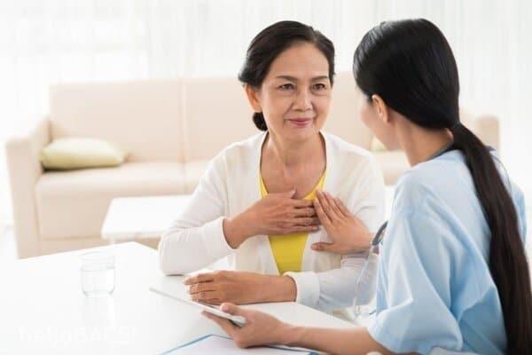 Đau thắt tại vùng ngực trái trước tim, tức ngực gợi ý cho triệu chứng của suy tim
