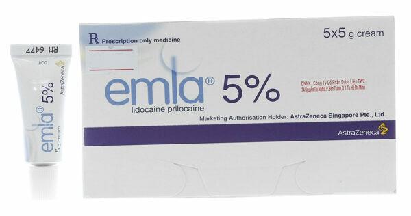Kem bôi Emla chứa lidocain-prilocain gây tê, là thuốc trị xuất tinh sớm bán theo đơn