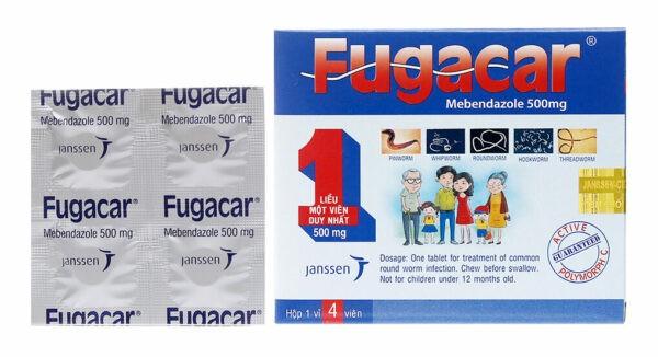 Thuốc Fugacar 500mg là thuốc tẩy giun có hoạt chất là mebendazol