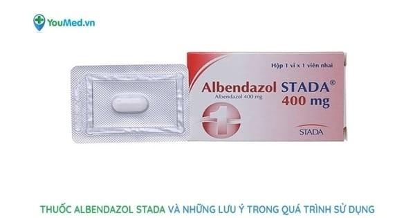 Thuốc tẩy giun Albendazol STADA và những lưu ý trong quá trình sử dụng