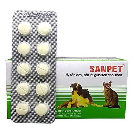 Thuốc Tẩy giun Sanpet cho chó mèo