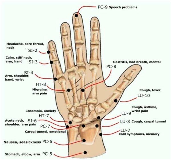 Các huyệt tại bàn tay - cổ tay và công dụng của chúng