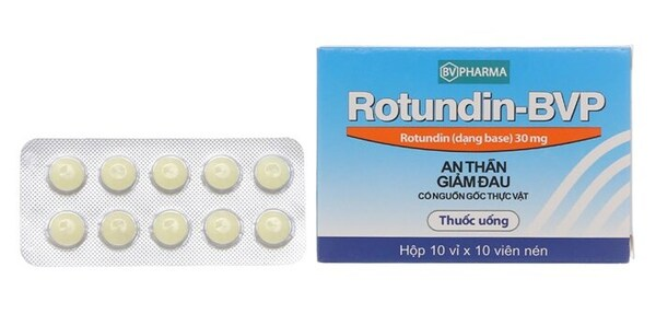 Thông tin về thuốc an thần Rotundin